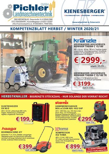 Kienesberger Herbst/Winter Aktion